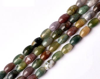 DIY Handmade  Aquatic Agate Beads for Bracelet/Necklace (Size: 6x4mm)-WEN41138532068-GVN