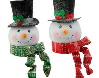 Snowman tree topper | Etsy