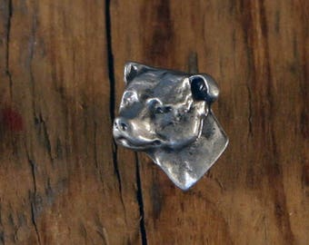 Staffordshire Bull Terrier Face Pin
