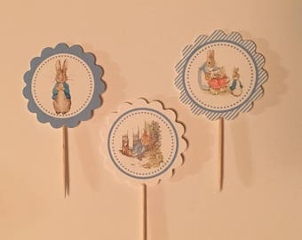 Beatrix Potter Peter Rabbit cupcake toppers