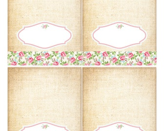Shabby Chic Menu Cards for Baby Shower