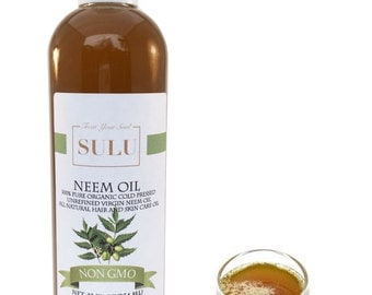 100% organic Virgin Unrefined Neem Oil all natural cold pressed  from 4 oz up to 7 lbs