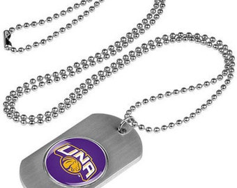 North Alabama Lions Stainless Steel Dog Tag Necklace