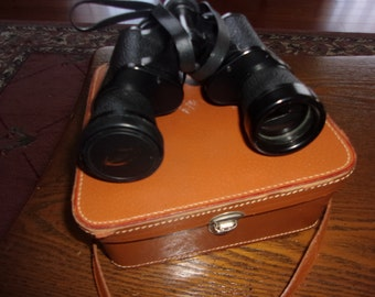 Vintage Scope Binoculars with leather case