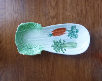 Vintage celery and vegetable spoon rest