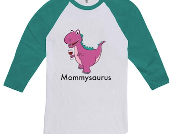 Mommysaurus Dinosaur Shirt, Mothers Day Raglan Shirt Best Gifts for Mom Matching Mother Son Dinosaur, Dino Charge, Etsy Gifts for Mom CT-992