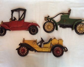 Antique Cars Metal Wall Decor Man Cave Father