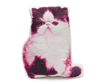 Persian Cushion, Persian Cat, Funny Cat Gifts, Cat Gift, Animal Cushion, Cat Pillow, Cat Cushion, Purple Nursery Decor,Cats,Unique Cat Gifts
