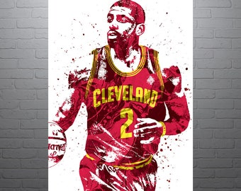 Kyrie Irving Cleveland Cavaliers, Sports Art Print, Basketball Poster, Kids Decor, Watercolor Abstract Drawing Print, Modern Art