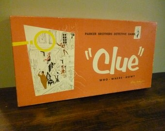 Original Clue Game 1949/1950 Parker Brothers Board Game