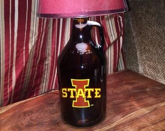 Iowa State Growler lamp