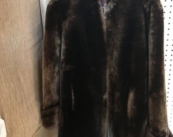 Woman's Mouton Lamb Fur Coat
