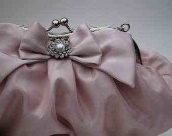 Blush Clutch, Blush Bridal Purse, Pretty Evening Bag (Lily D.)