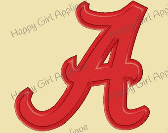 Alabama University A Applique and Embroidery Designs
