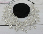 FAST Shipping!! Bridal Halo, Bridal Wreath, Swarovski Halo, Crystal Wreath