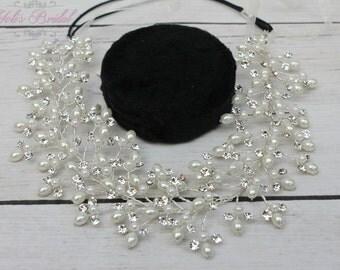 FAST Shipping!! Bridal Halo, Bridal Wreath, Swarovski Halo, Crystal Wreath