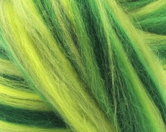 Merino Wool Combed Top/Roving by the Pound - Sunlit Forest