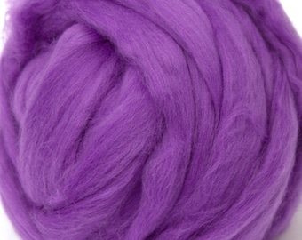 Merino Wool Combed Top/Roving by the Pound - Violet