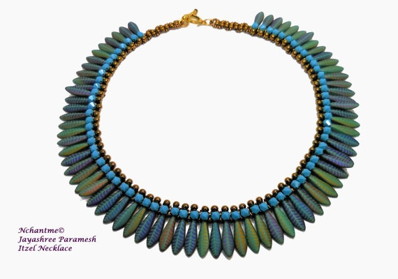 Itzel Necklace Tutorial Instant Download