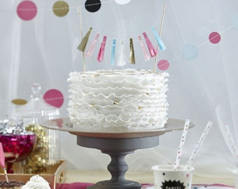 Tassel Style Celebration Bunting for Cakes and Displays, Cake Topper