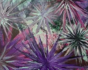 Original Purple Starburst Acrylic