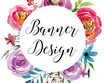 Banner design, Facebook Cover, Etsy Banner, Web banner, business branding, Graphic design service, Small business, graphic package