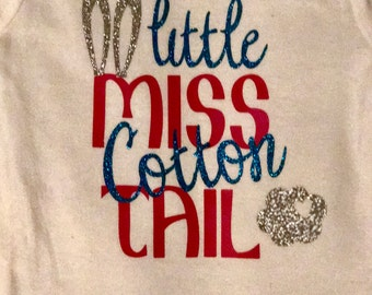 Little Miss Cotton Tail Little Girl Easter Tee