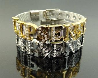 LIPSENSE Rhinestone Charm Bracelet
