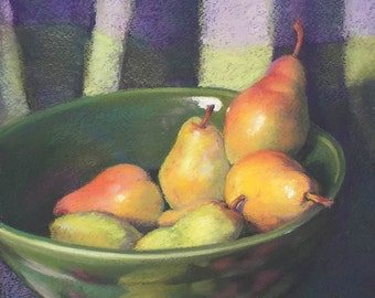 Painting Pears Original Still Life ArtEqualsJoy
