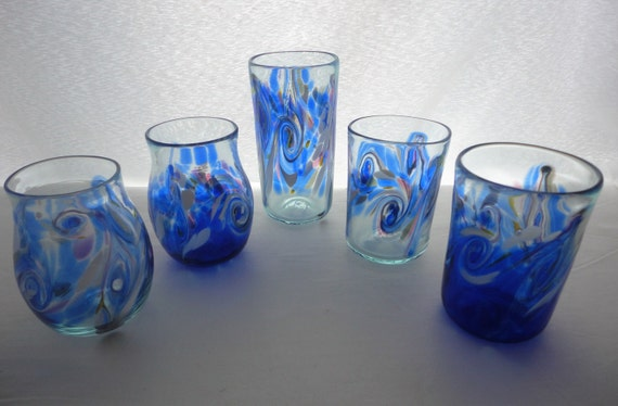 Blown Glass Cups. Iqaluit Color Design Urban Classic Series