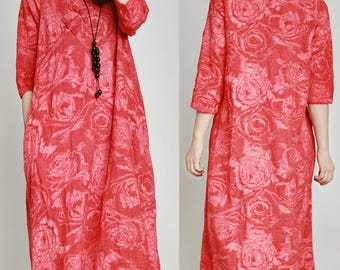women linen dress/women vintage dress/women comfortable dress/women leisure dress/women chinses style dress/women linen long dress/TZ03D0216