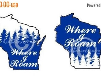 Wisconsin Svg, Wisconsin Dxf, Plotter File, Cutting File