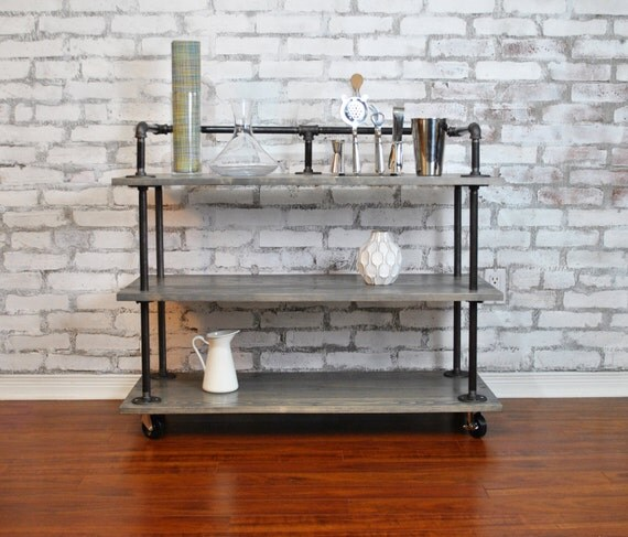 rustic bar cart. Black Bedroom Furniture Sets. Home Design Ideas