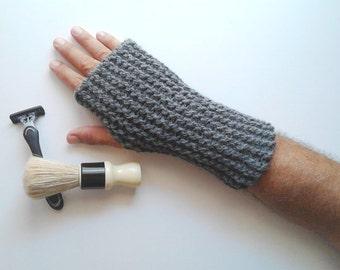 Gloves mittens fingerless gloves men, knit fingerless gloves, gloves for men's, mens arm warmers, mens mittens, gifts for him mittens gloves