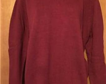 St. John's Bay Classic Crewneck Sweater in Wine Color - Misses size Medium