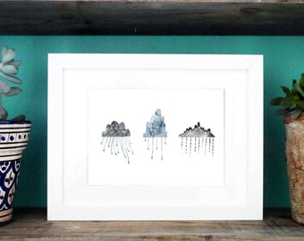 Every Cloud Has a Silver Lining Print A4/A3