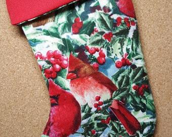 Red Cardinal Mini Stocking