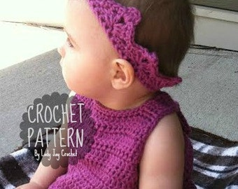 PATTERN : Prince and Princess Crown | Easy DIY crochet tiara pattern | newborn toddler child adult crown pattern | easy royal crown pattern