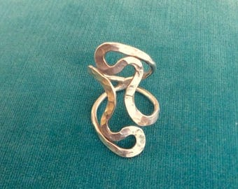 Vintage Sterling Silver Modernist Ring