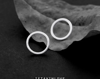 Sterling Silver Geometry Circle Earring | Geometry Jewelry I Personalized Gift