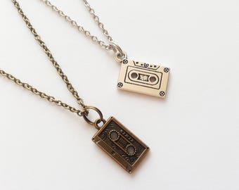 CASSETTE Necklace Cassette Jewelry Cassette Gift DJ Necklace DJ Jewelry Dj Gift Festival Jewelry Festival Necklace Cassette Pendant Charm