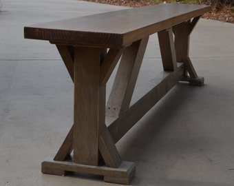 Trestle table bench