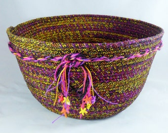 One Million Points of Bright Coiled Fabric Basket