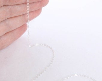 10 Feet - Sterling Silver Chain - 1.3mm Flat Cable Chain - Thin Chain - Delicate Chain - Wholesale Chain - Custom Length .925 / SS-CH005