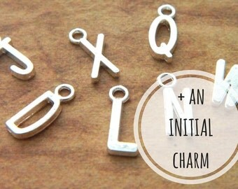 Add An Initial Charm, Purchase Add On, Necklace Add On, Bracelet Add On, Keyring Add On, Personalised Gift, Name Gift, Monogram Gift