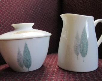 Noritake Namiki  CookinServe Creamer and Sugar Bowl