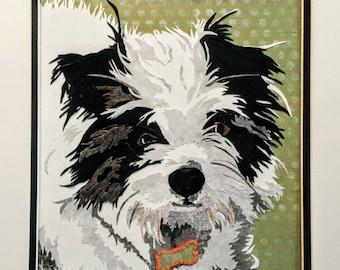 Custom Dog Portrait - Custom Pet Portrait - Dog Portrait - Pet Portrait - Pet Memorial - Cut Paper Art - Hand Cut Paper - Paper Cut