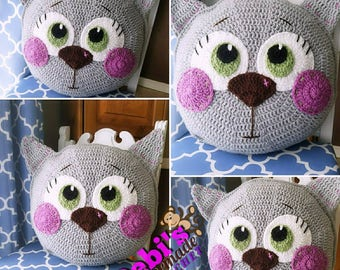 Cat Pillow, Made-to-Order Crochet