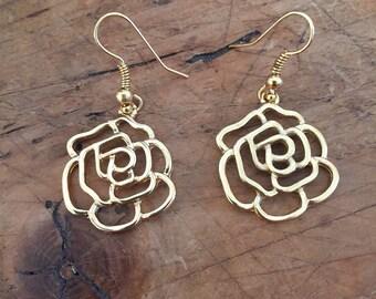 The Tea Rose Earrings