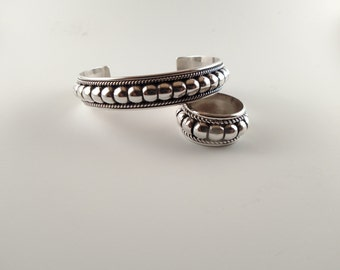 Navajo jewelry // matching set // Navajo bracelet // Navajo ring